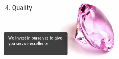 Quality - We invest in ourselves to give you service excellence.